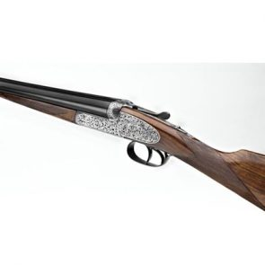 AYA Model No.2 de Luxe Round Action Side By Side Shotgun