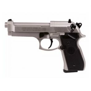 Beretta 92FS CO2, Nickel, Black Grips, Air Pistol