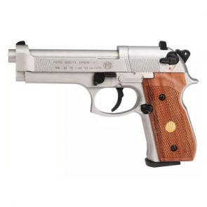 Beretta 92FS CO2 Nickel Air Gun Wood Grips