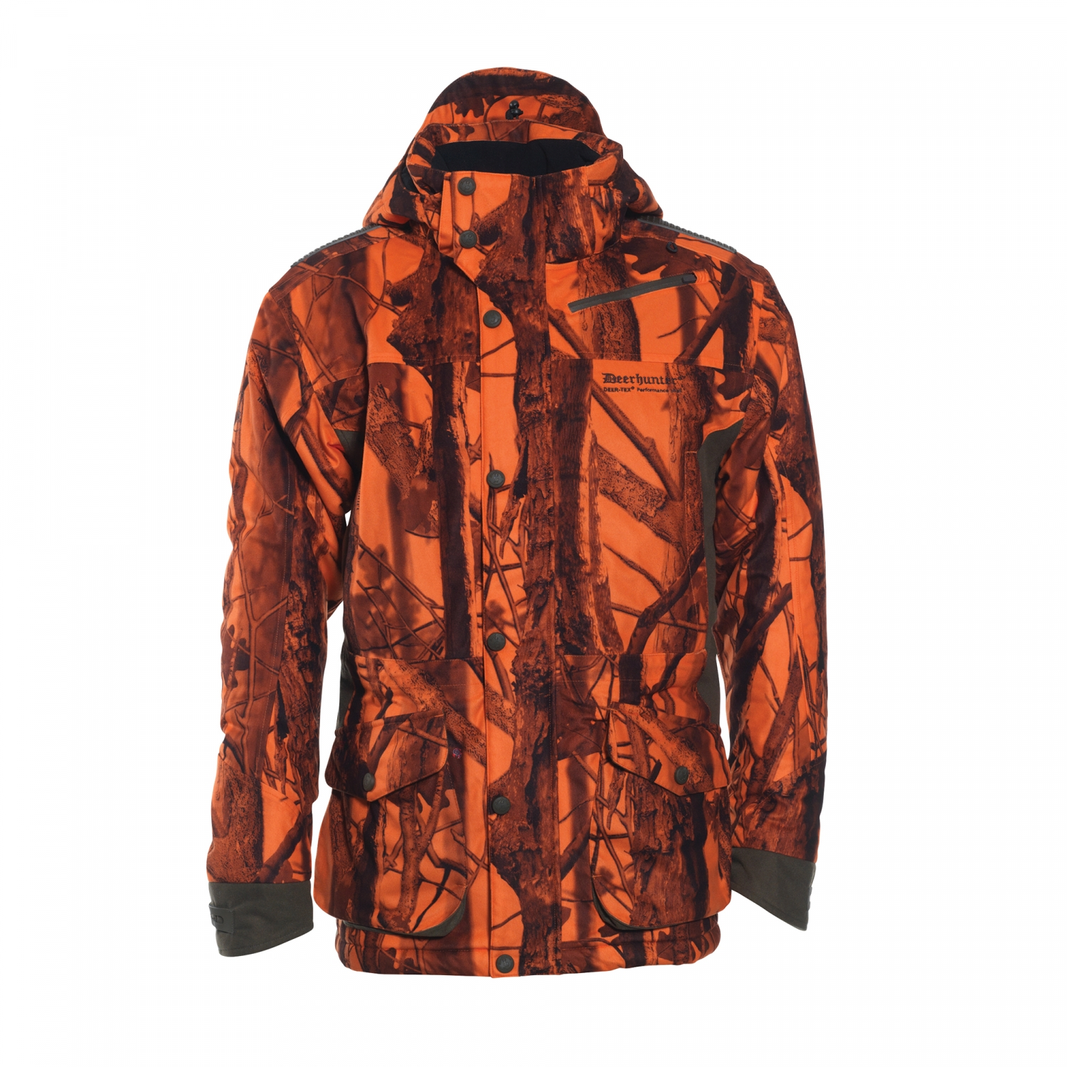c780d29965482 Deerhunter Cumberland Arctic Jacket In DH 77 Innovation Blaze Camo | The  Hunting Edge – Hunting & Shooting Store
