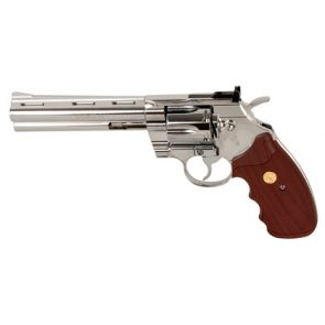 "Colt Python 6"" Full Metal, CO2 Air Pistol, Nickel"