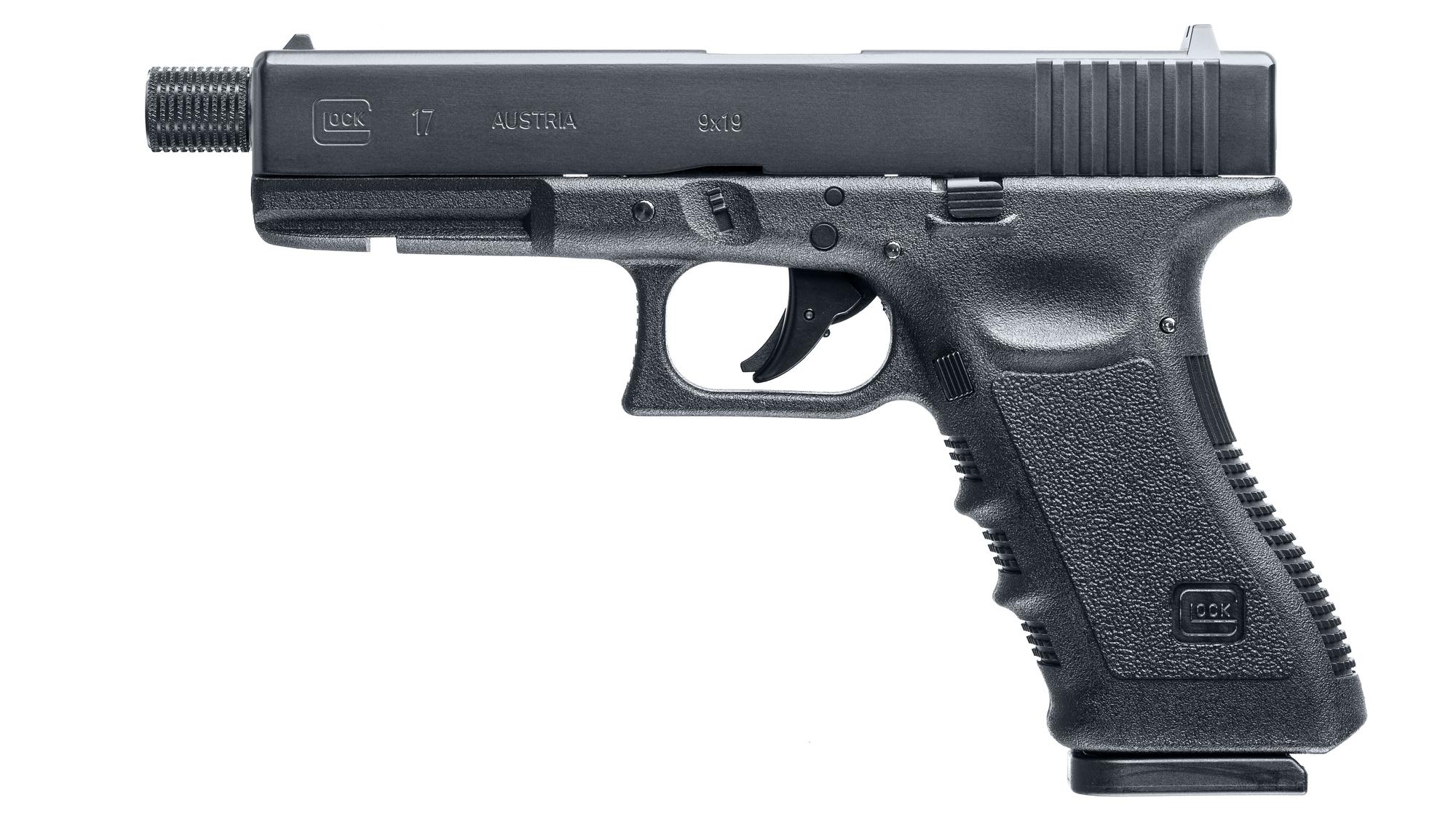 Glock 17 Threaded Barrel Pistol CO2 Pellet / BB Air Pistol