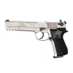 "Walther CP88 6"" Competition CO2 Air Pistol, Nickel"