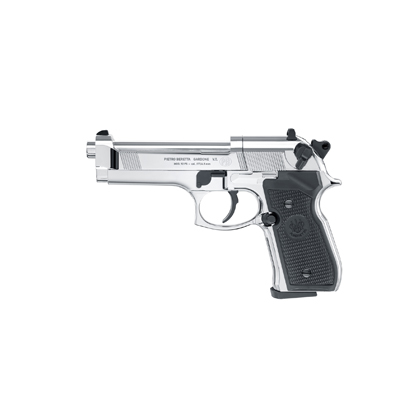 Beretta 92FS CO2, Polished Chrome Black Grips Air Pistol