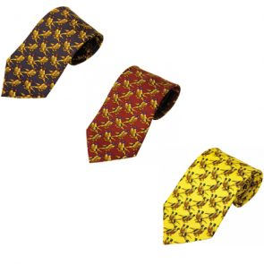 Bisley Solid Pheasant Patterned Silk Tie