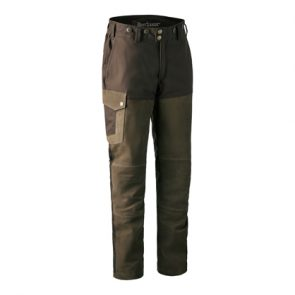 Deerhunter Marseille Leather Mix Boot Trousers w. Membrane in 552 DH Walnut