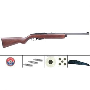 Crosman 1077 Wood 177 CO2 Air Rifle Kit