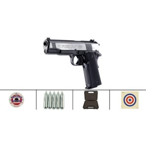 Colt 1911 Dark Ops CO2 .177 Air Pistol Kit
