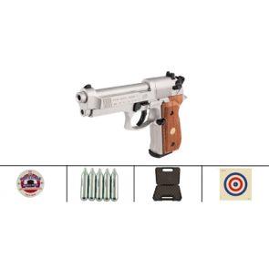 Beretta 92FS CO2 Nickel Air Gun Wood Grips Kit