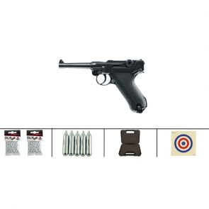Umarex Luger P08 Blowback CO2 Air Pistol Kit