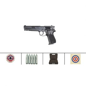 Walther CP88 6 Competition CO2 Air Pistol, Black Kit